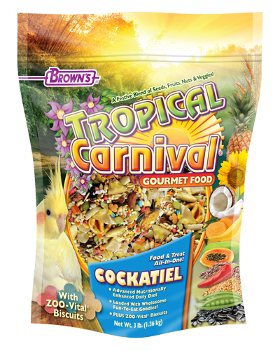 Picture of Brown's Tropical Carnival® Gourmet Cockatiel Food - 3 lb.