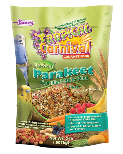 Picture of Brown's Tropical Carnival® Natural Parakeet Fortified Daily Diet - 2 lb.