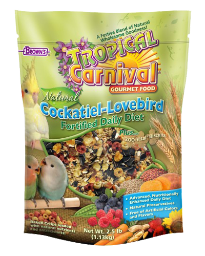 Picture of Brown's Tropical Carnival® Natural Cockatiel-Lovebird Diet - 2.5 lb.