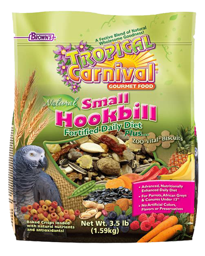 Picture of Brown's Tropical Carnival® Natural Small Hookbill Fortified Daily Diet - 3.5 lb.