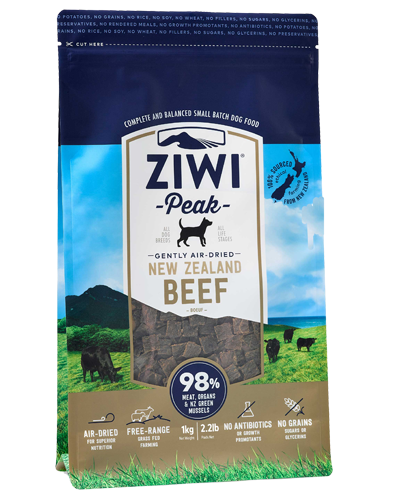 Picture of Ziwi Peak Air-Dried Grain Free New Zealand Beef Recipe - 2.2 lb.