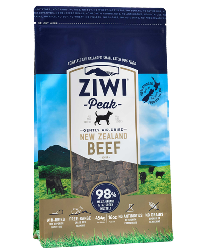 Picture of Ziwi Peak Air-Dried Grain Free New Zealand Beef Recipe - 16 oz.