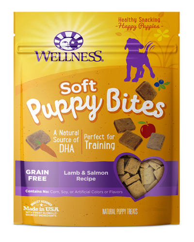Picture of Wellness Grain Free  Puppy Bites Soft Lamb & Salmon - 6 oz.