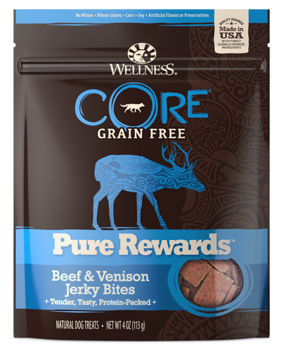 Picture of Wellness Grain Free CORE Pure Rewards Beef & Venison Jerky Bites - 4 oz.