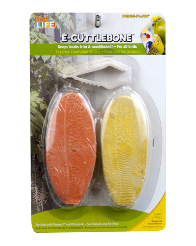 Picture of Penn Plax E2 Natural Cuttlebone Banana & Mango Flavor - 2 Pack