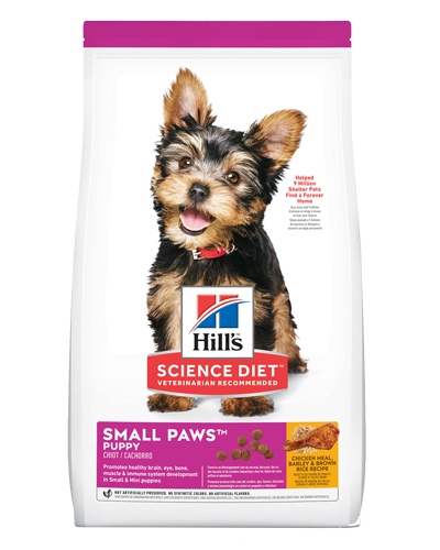 Picture of Hill's Science Diet Puppy Small Paws Chicken Meal, Barley & Brown Rice Recipe Dry Dog Food - 15.5 lbs.