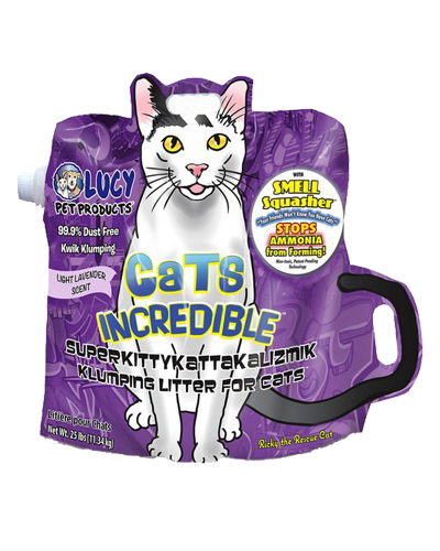 Picture of Lucy Pet Cats Incredible Lavender Scented Clumping Litter - 25 lb.