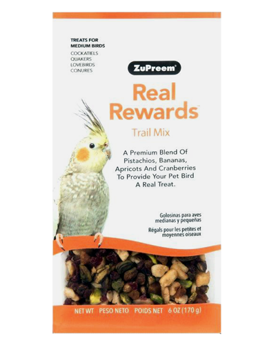 Picture of Zupreem Real Rewards Trail Mix For Medium Birds - 6 oz
