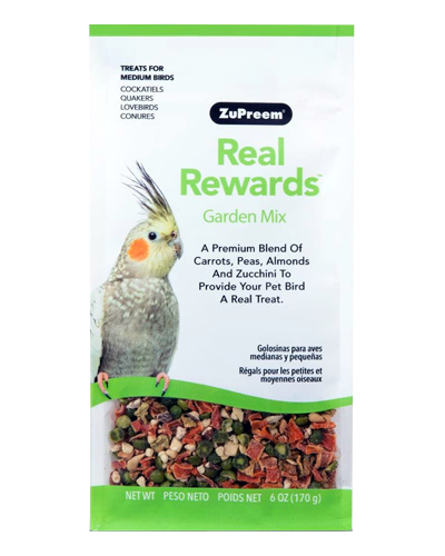 Picture of Zupreem Real Rewards Garden Mix For Medium Birds - 6 oz