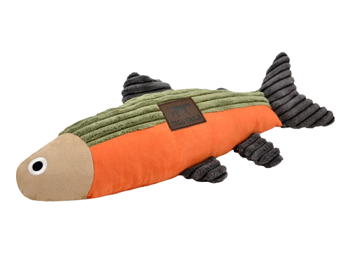 """Picture of Tall Tails 12"""" Fish with Squeaker Sage and Cream Toy"""