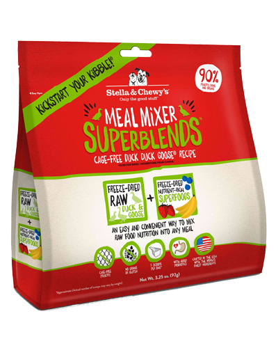 Picture of Stella & Chewy's Cage-Free Duck Duck Goose SuperBlends Grain Free Meal Mixers - 3.25 oz.