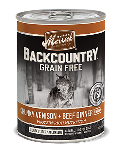 Picture of Merrick Backcountry Grain Free Chunky Venison and Beef Dinner in Gravy - 12.7 oz.