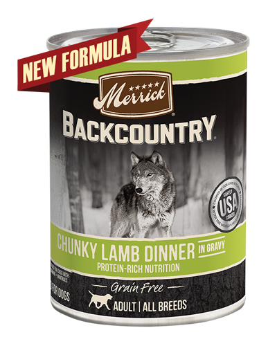 Picture of Merrick Backcountry Grain Free Chunky Lamb Dinner in Gravy - 12.7 oz.