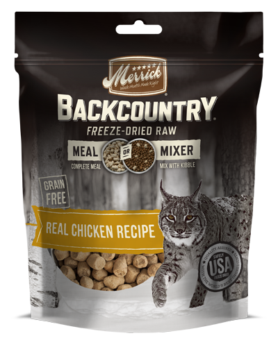 Picture of Merrick Backcountry Grain Free Freeze Dried Raw Meal Mixer Real Chicken Recipe - 12.5 oz.