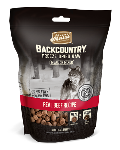 Picture of Merrick Backcountry Grain Free Freeze-Dried Raw Meal Mixer Real Beef Recipe - 12.5 oz.