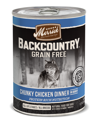 Picture of Merrick Backcountry Grain Free Chunky Chicken Dinner in Gravy - 12. 7 oz.