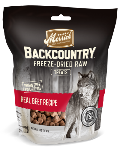 Picture of Merrick Backcountry Grain Free Freeze-Dried Raw Treats Real Beef Recipe - 3.25 oz.