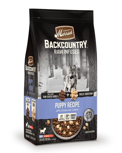 Picture of Merrick Backcountry Grain Free Raw Infused Puppy Recipe with Chicken and Sweet Potatoes - 4 lbs.