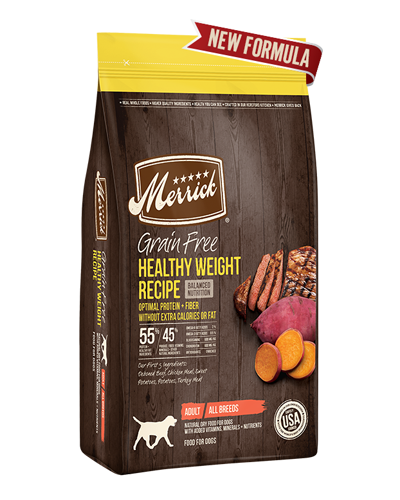 Picture of Merrick Grain Free Healthy Weight Recipe with Deboned Beef - 4 lbs.