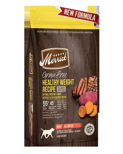 Picture of Merrick Grain Free Healthy Weight Recipe with Deboned Beef - 25 lbs.