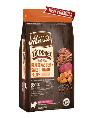 Picture of Merrick Lil' Plates Grain Free Real Texas Beef + Sweet Potato Recipe - 12 lbs.