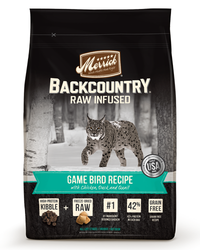 Picture of Merrick BackCountry Raw Infused Grain Free Game Bird Recipe - 10 lb.