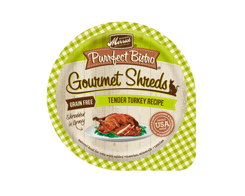 Picture of Merrick Purrfect Bistro Gourmet Shreds Grain Free Tender Turkey Recipe 3.5 oz.