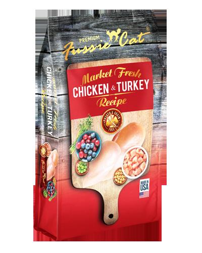 Picture of Fussie Cat Market Fresh Chicken & Turkey Formula - 4 lbs.