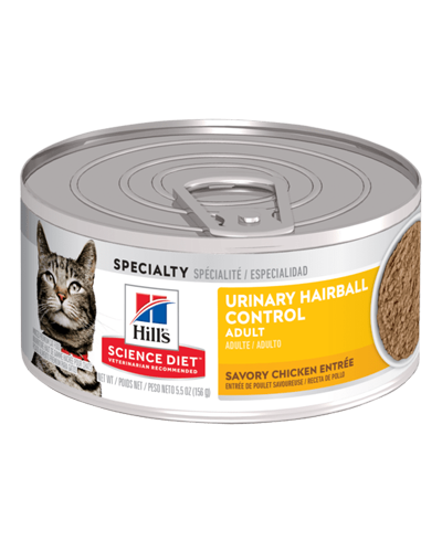 Picture of Hill's Science Diet Adult Urinary & Hairball Control Canned Cat Food - 5.5 oz.