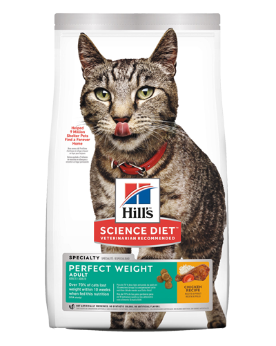 Picture of Hill's Science Diet Adult Perfect Weight Chicken Recipe Dry Cat Food - 15 lbs.