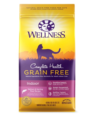 Picture of Wellness Complete Health Grain Free Indoor Salmon & Herring Recipe - 2.25 lbs.