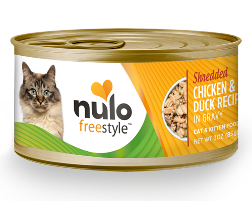 Picture of Nulo FreeStyle Cat and Kitten Grain Free Shredded Chicken and Duck Recipe in Gravy - 3 oz.