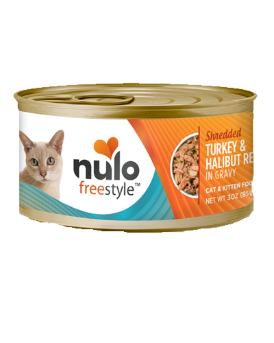 Picture of Nulo FreeStyle Cat and Kitten Grain Free Shredded Turkey and Halibut Recipe in Gravy - 3 oz.