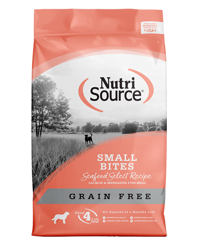 Picture of Nutrisource Grain Free Small Bites Seafood Select Recipe - 15 lbs.