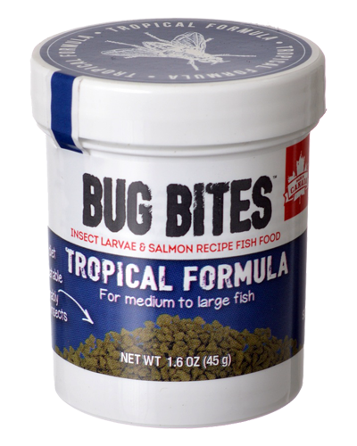 Picture of Fluval Bug Bites Tropical Formula for Medium to Large Fish - 1.6 oz.