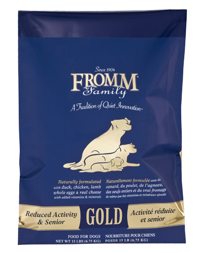 Picture of Fromm Gold Reduced Activity and Senior Formula with Duck and Chicken - 15 lb.