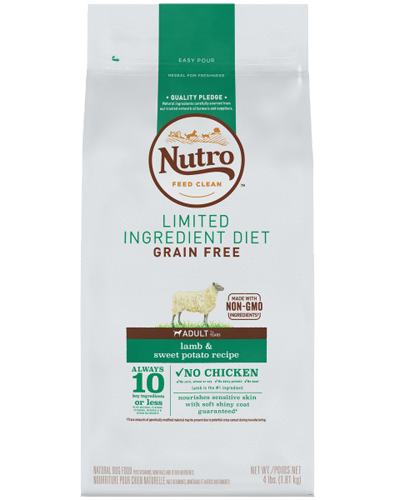 Picture of Nutro Grain Free Limited Ingredient Diet Adult Lamb & Sweet Potato - 4 lbs.