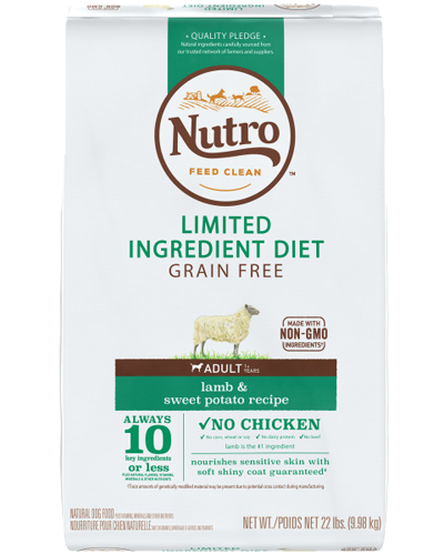 Picture of Nutro Grain Free Limited Ingredient Diet Adult Lamb & Sweet Potato - 22 lbs.