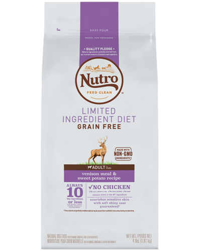 Picture of Nutro Grain Free Limited Ingredient Diet Adult Venison & Sweet Potato - 4 lbs.