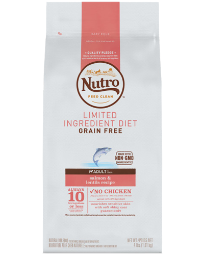Picture of Nutro Grain Free Limited Ingredient Diet Adult Salmon & Lentils - 4 lbs.
