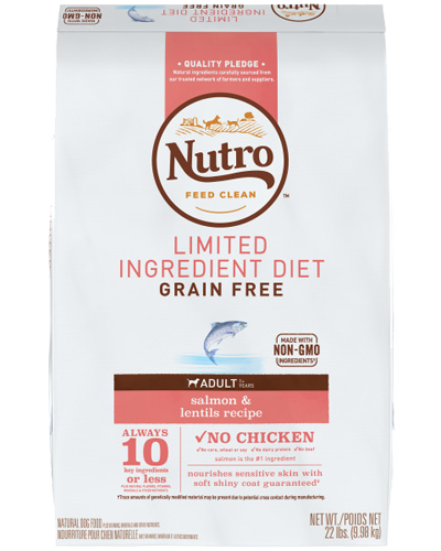 Picture of Nutro Grain Free Limited Ingredient Diet Adult Salmon & Lentils - 22 lbs.