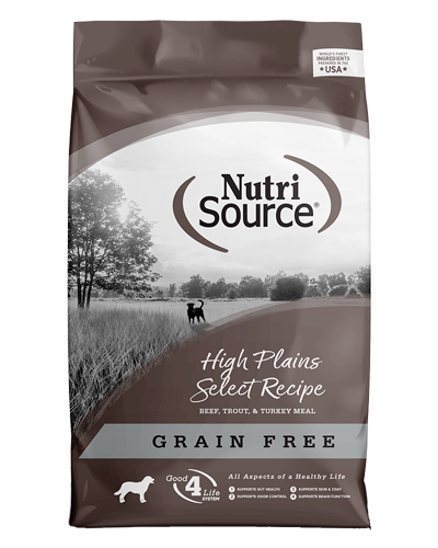 Picture of Nutrisource Grain Free High Plains Select with Beef - 30 lbs.