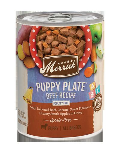 Picture of Merrick Grain Free Puppy Plate Classic Deboned Beef Recipe - 13.2 oz.
