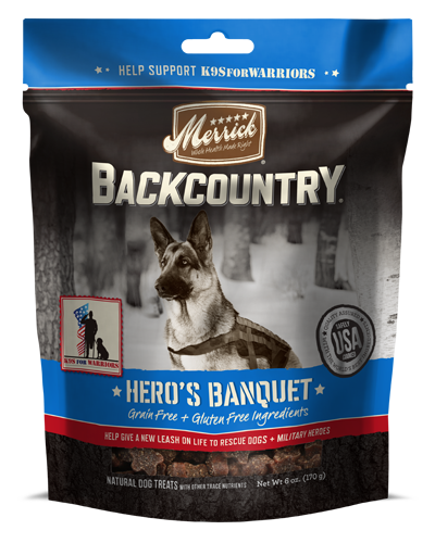 Picture of Merrick BackCountry Grain Free Hero's Banquet Treats - 6 oz.
