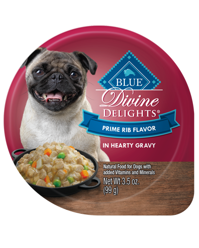Picture of Blue Buffalo Divine Delights Prime Rib Flavor in Hearty Gravy - 3.5 oz.