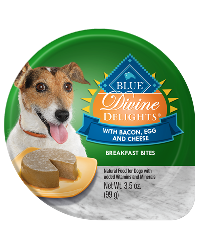 Picture of Blue Buffalo Divine Delights Bacon, Egg, and Cheese Flavor Breakfast Bites - 3.5 oz.
