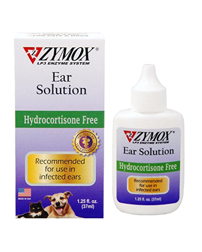 Picture of Zymox Ear Solution Hydrocortisone Free - 1.25 oz