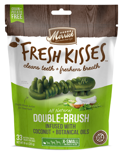 Picture of Merrick Fresh Kisses Grain Free Coconut Oil Infused with Botanicals for Extra Small Dogs - 33 Ct.