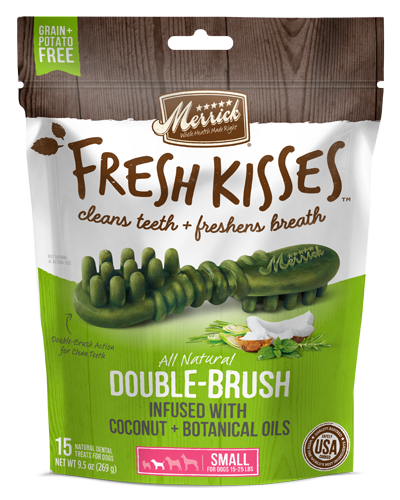 Picture of Merrick Fresh Kisses Grain Free Coconut Oil Infused with Botanicals for Small Dogs - 15 Ct.
