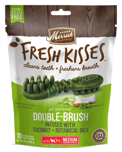 Picture of Merrick Fresh Kisses Grain Free Coconut Oil Infused with Botanicals for Medium Dogs - 10 Ct.